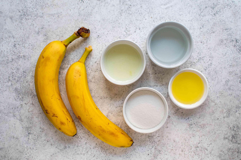 Easy Bananas Flambe ingredients