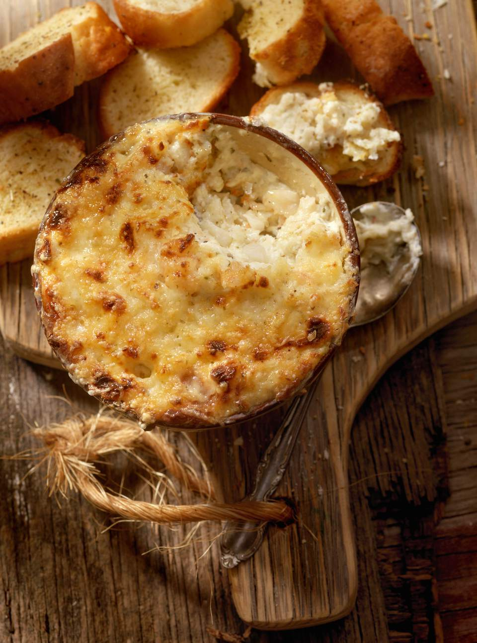 Baked Hot Seafood Dip With Bread