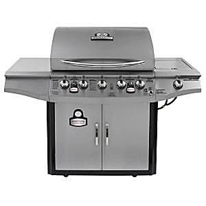 Brinkmann 5-Burner Smoke N Propane Grill with Smoker Model# 810-1751-SC
