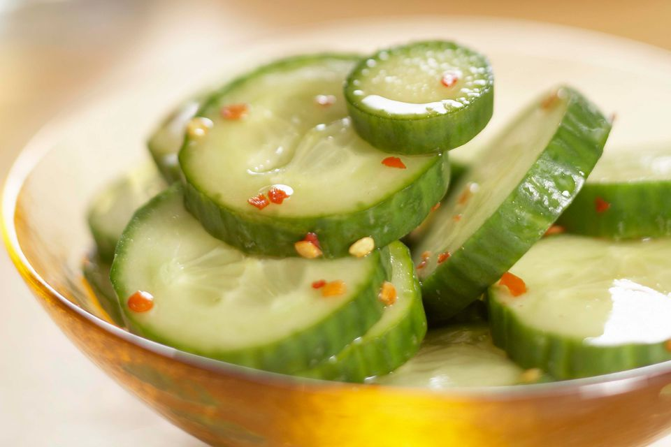 Spicy Korean Cucumber Pickles