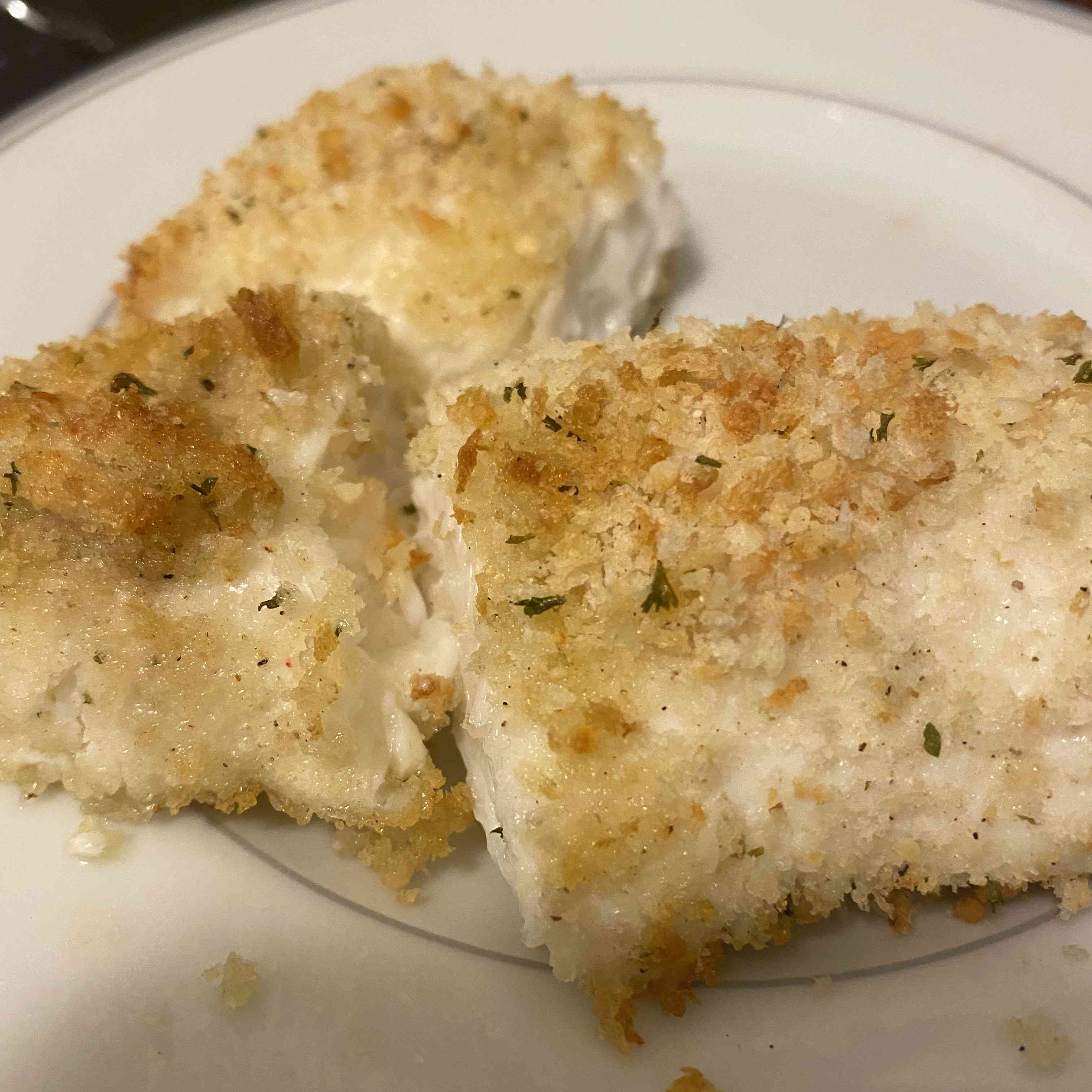 Baked Halibut With Parmesan Crumb Topping Recipe Test