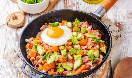 Paleo Turkey, Bacon, and Egg Skillet