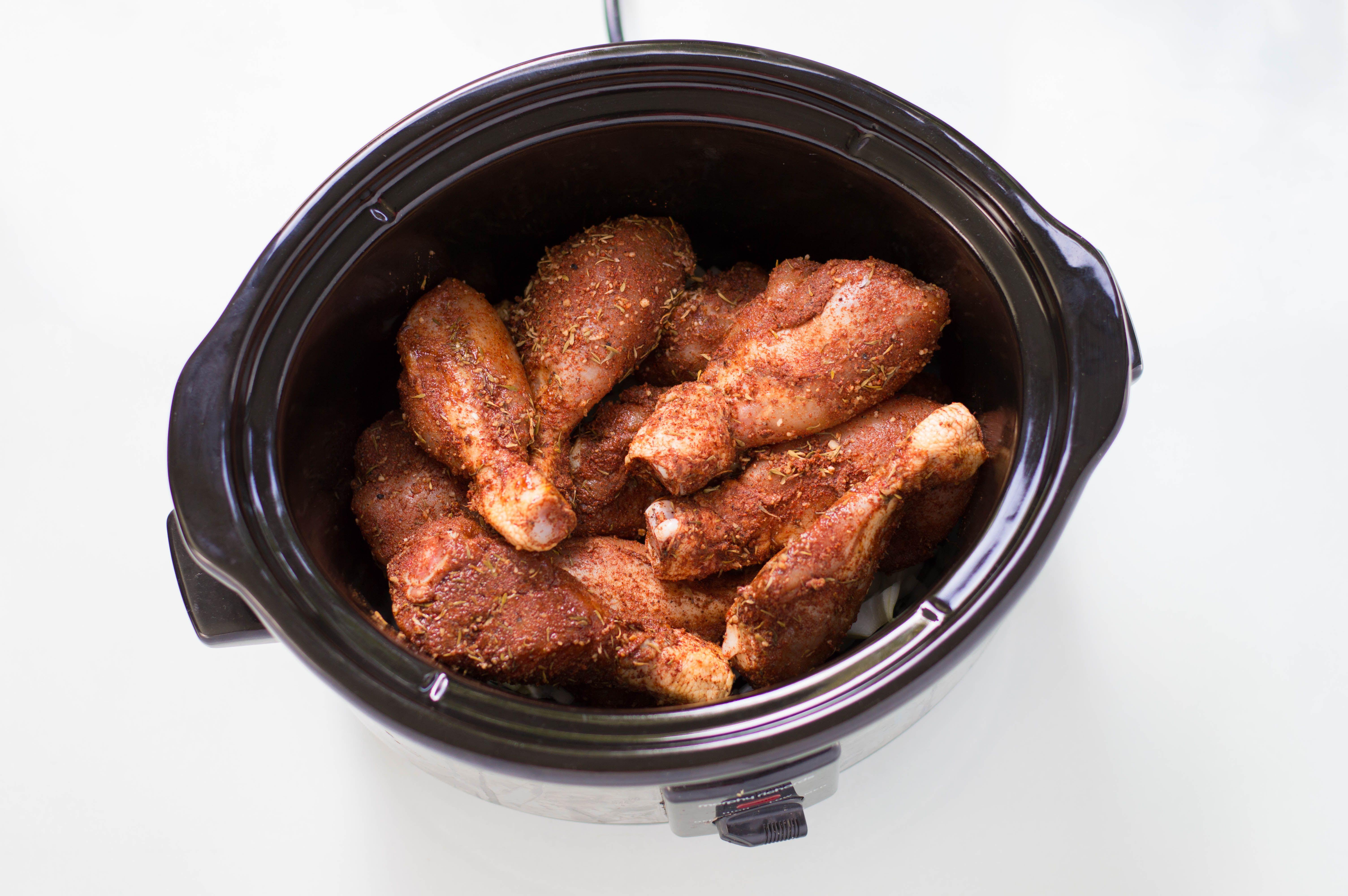 put meat in crockpot