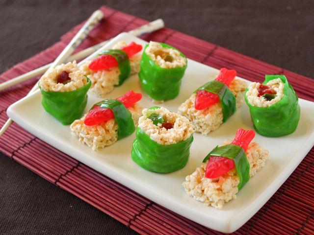 Rice Krispie Candy Sushi