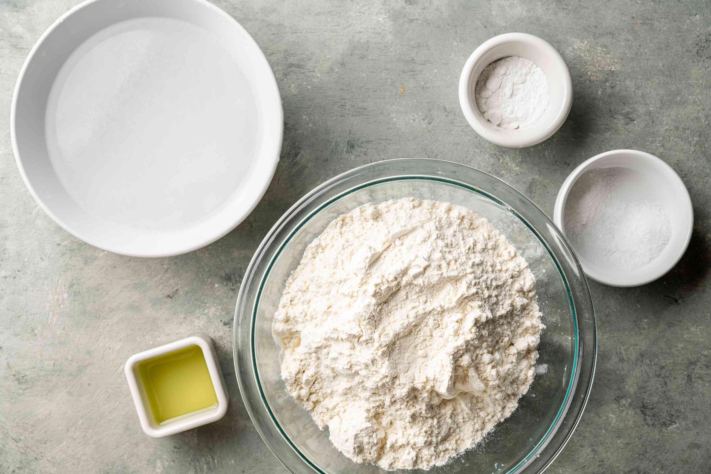 Easy Sada Roti Flatbread ingredients