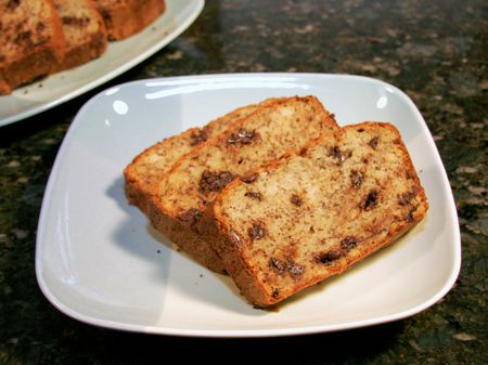 Easy chocolate chip banana bread recipe chocolate chip banana bread forumfinder Image collections