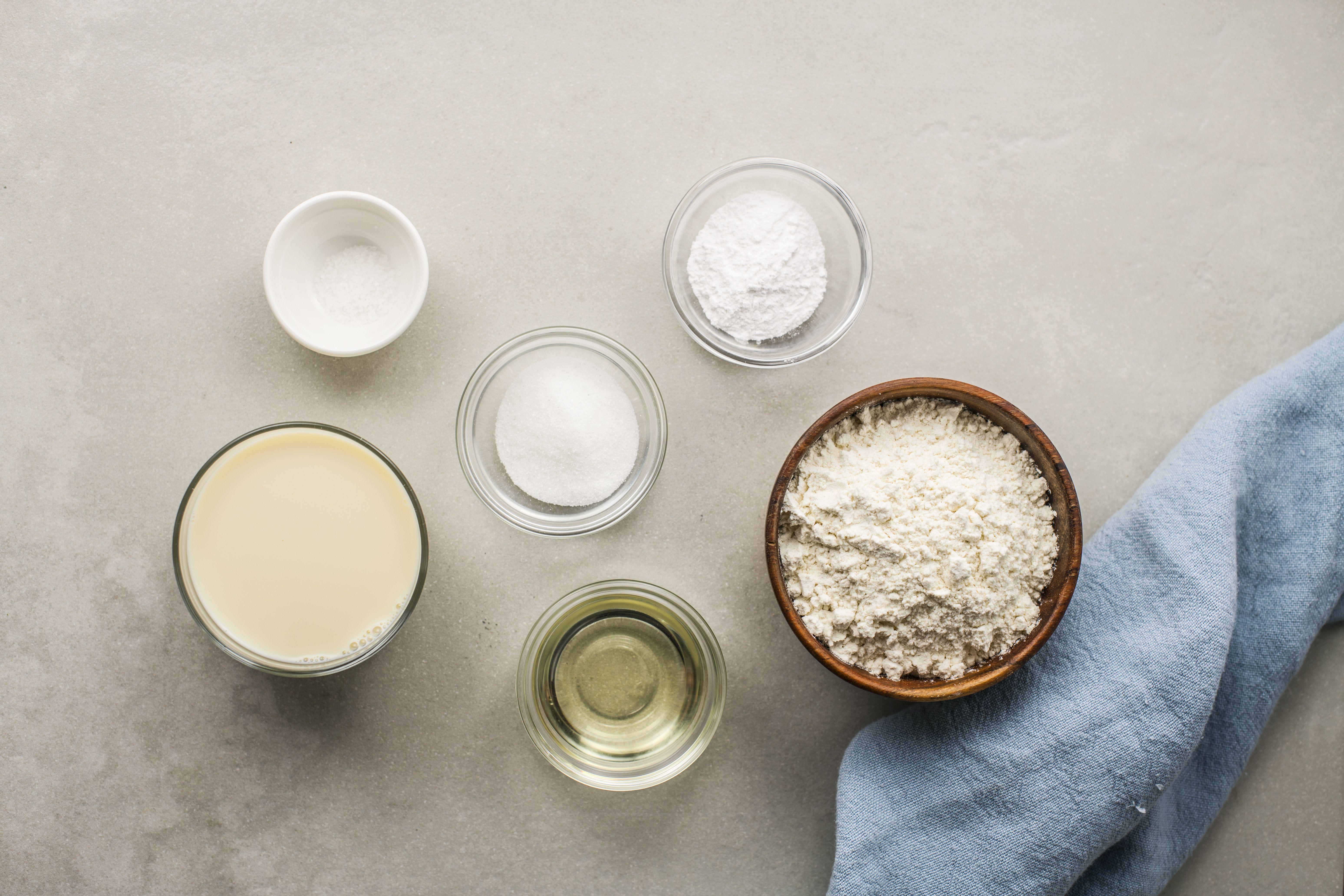 Ingredients for vegan pancakes