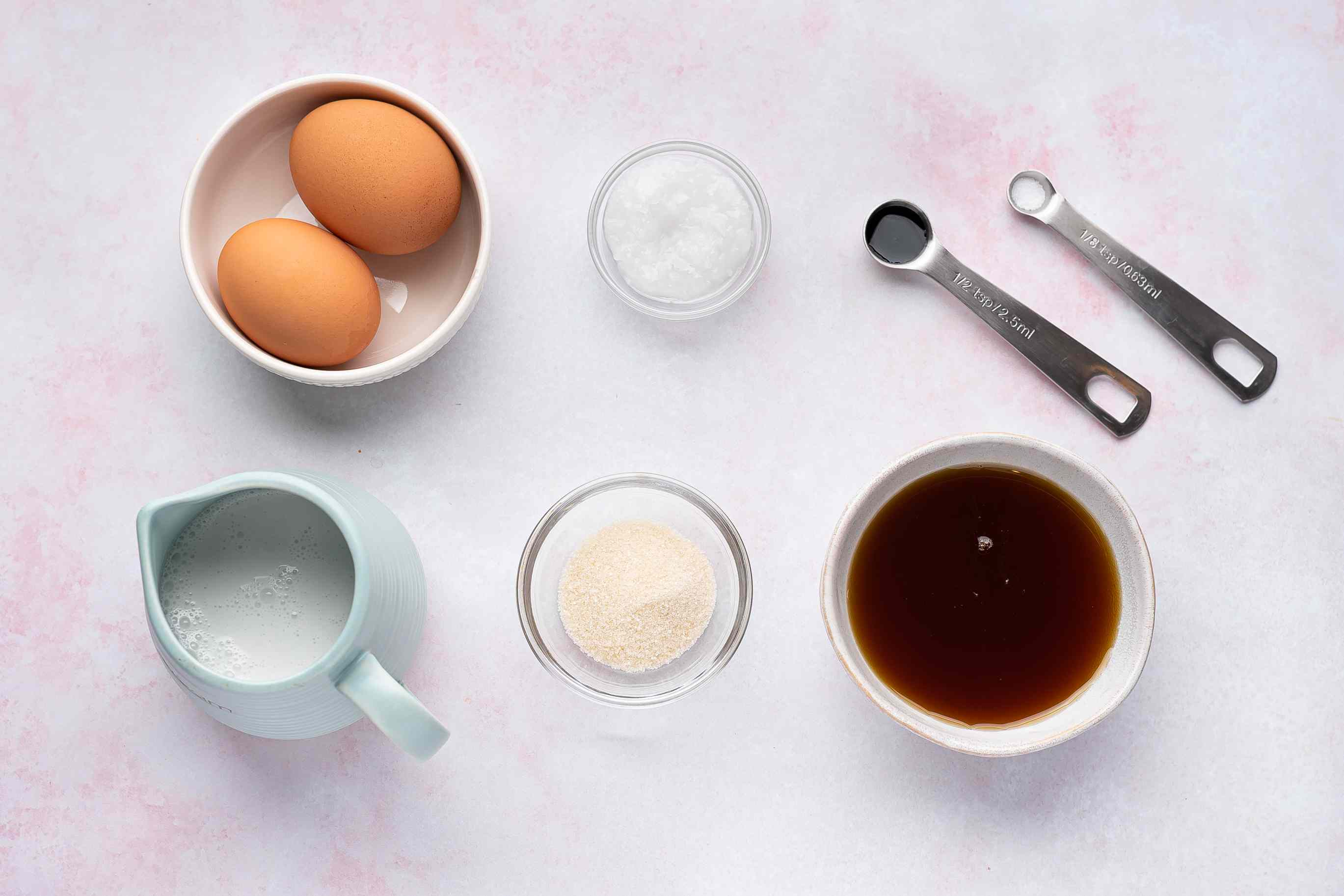 Gluten-Free Thai Creme Caramel ingredients