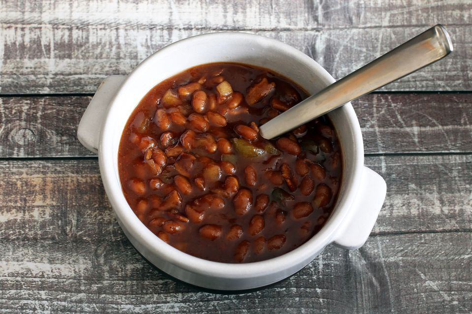 Easy Crock Pot Barbecue Baked Beans With Bacon Recipe