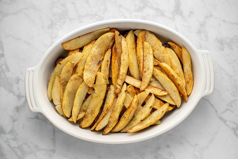 potatoes in a baking dish
