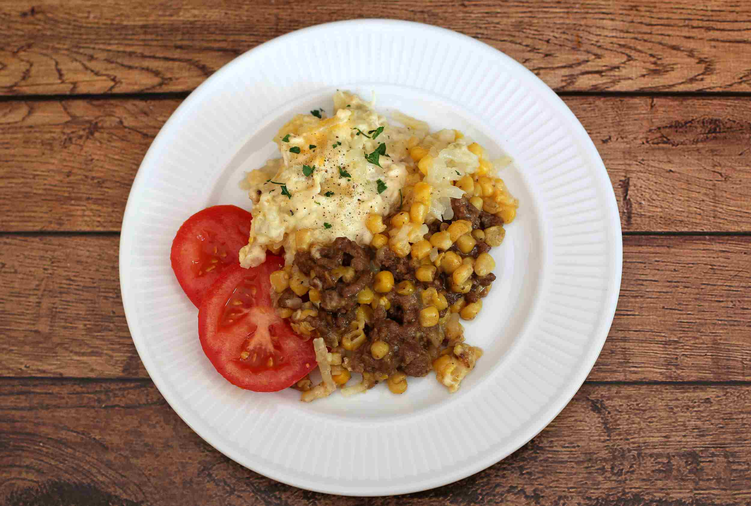 Crock Pot Hash Brown and Ground Beef