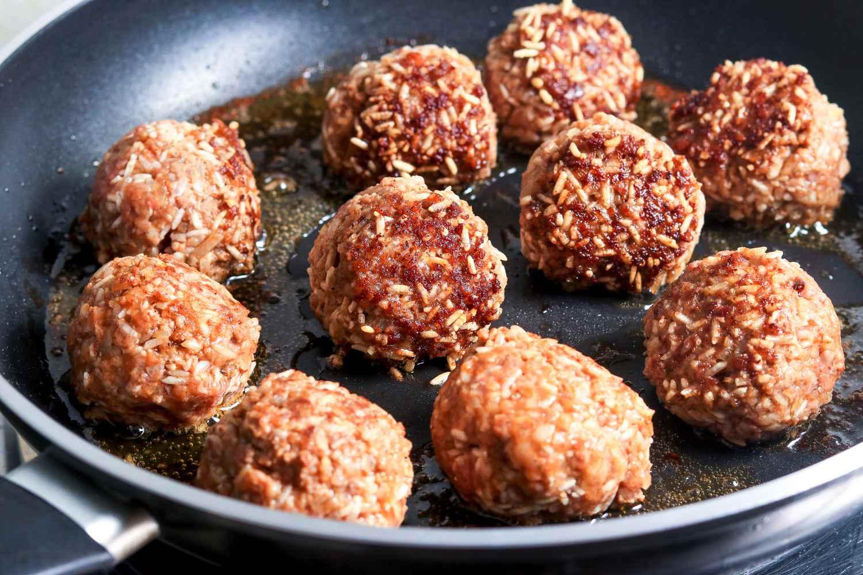 Browning porcupine meatballs