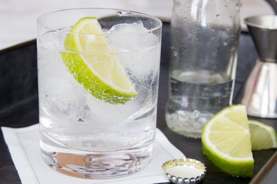 Tonic Water With Lime Wedge