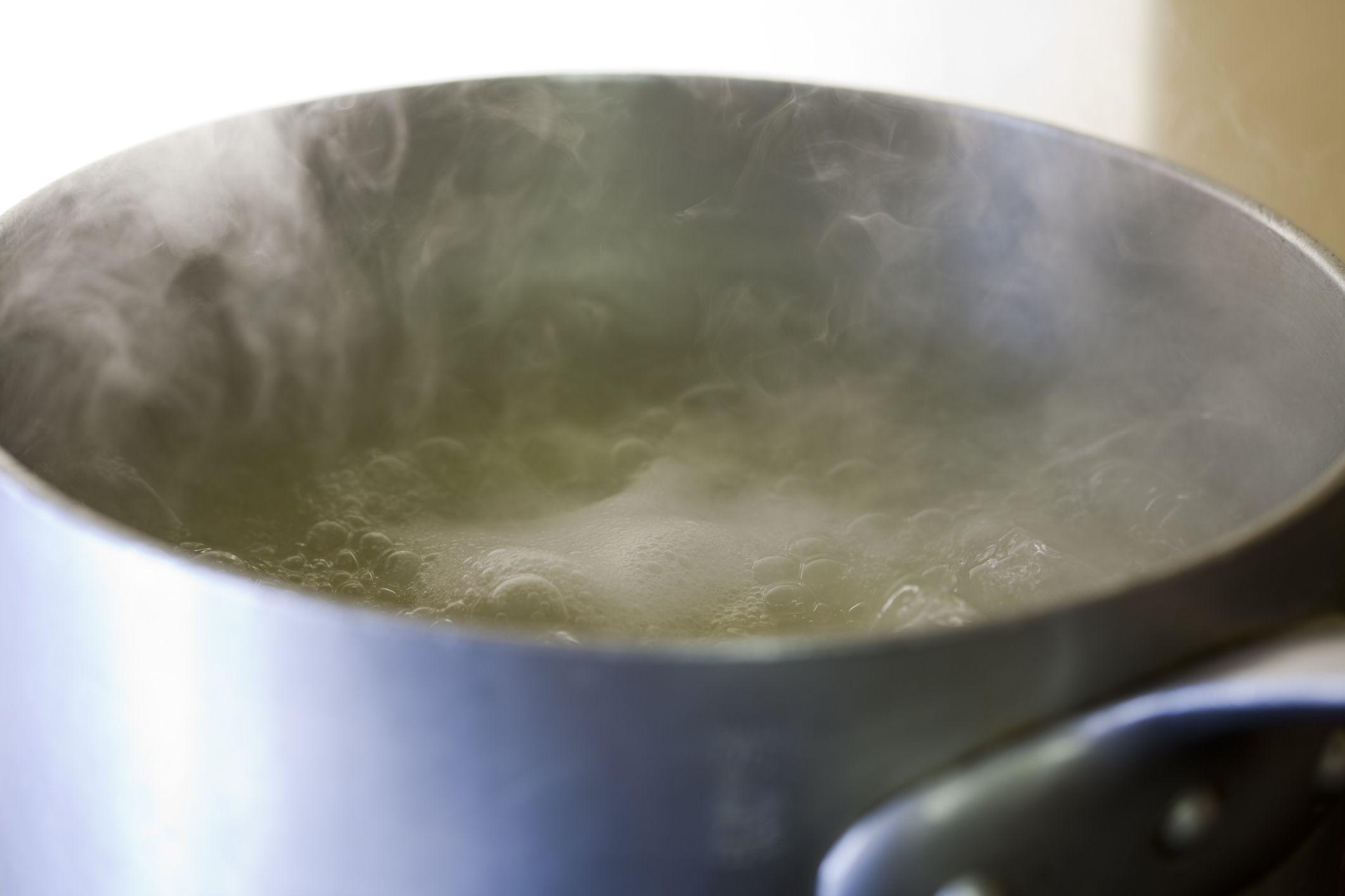 Simmering Broth in pot
