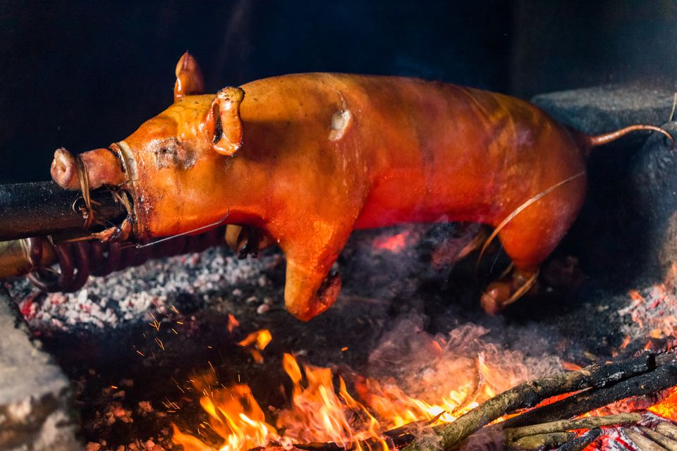 Balinese Suckling Pig on Spit