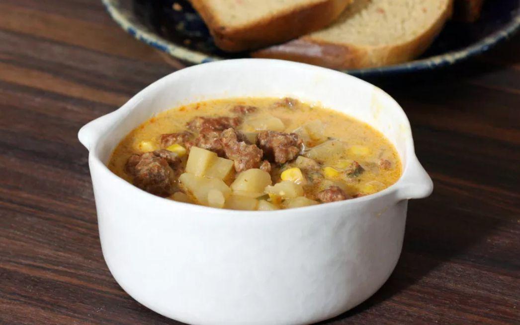 Crock pot spicy chorizo sausage and potato chowder
