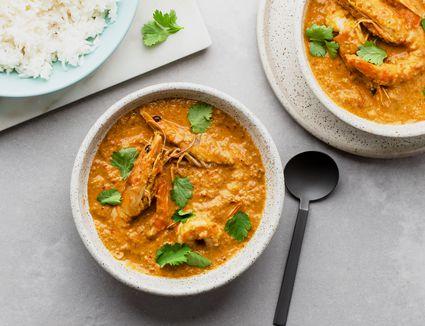 Creamy prawn curry recipe