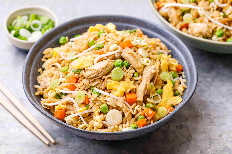 Easy fried chicken rice recipe