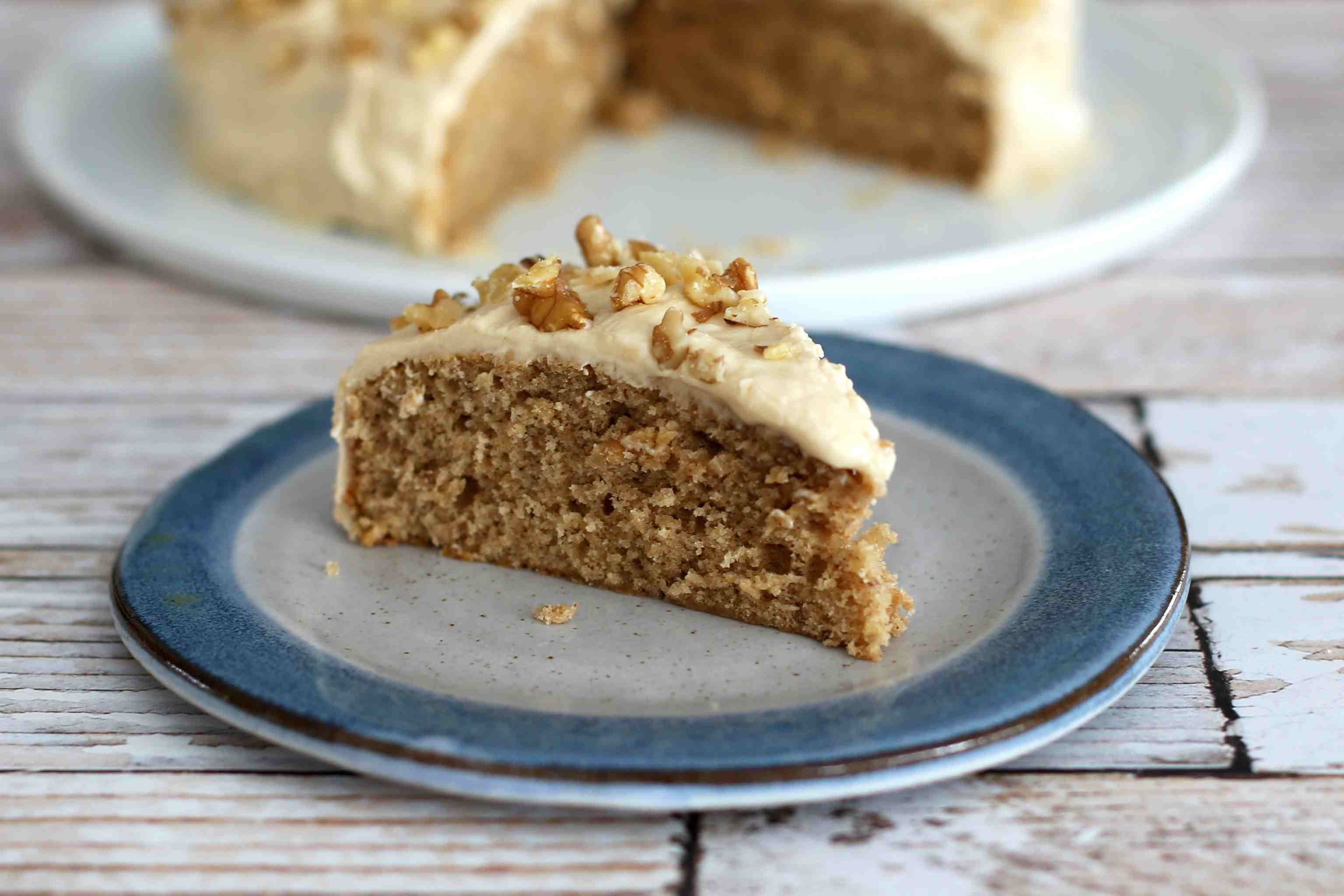 Coffee Walnut Snack Cake