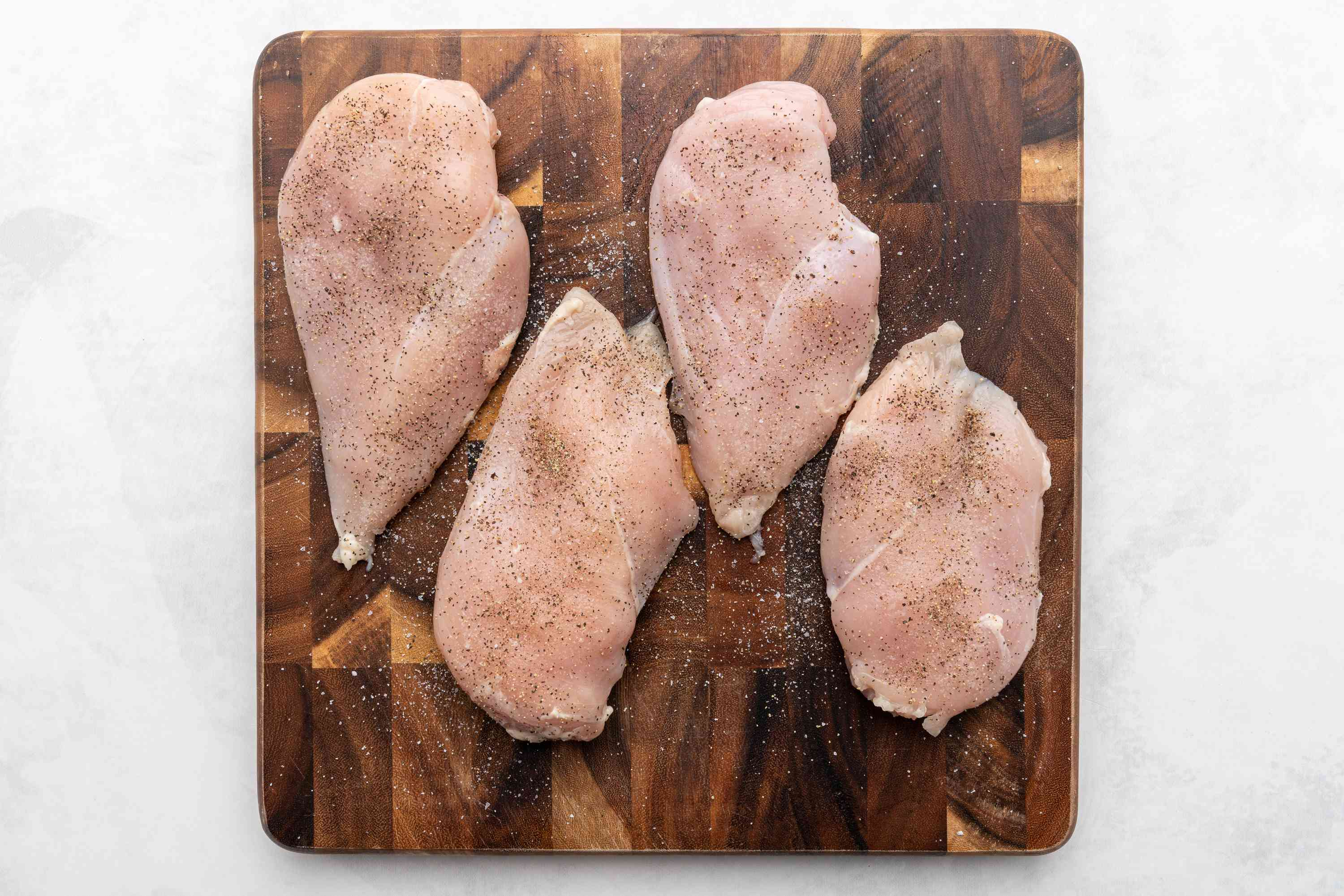 chicken seasoned with salt and pepper