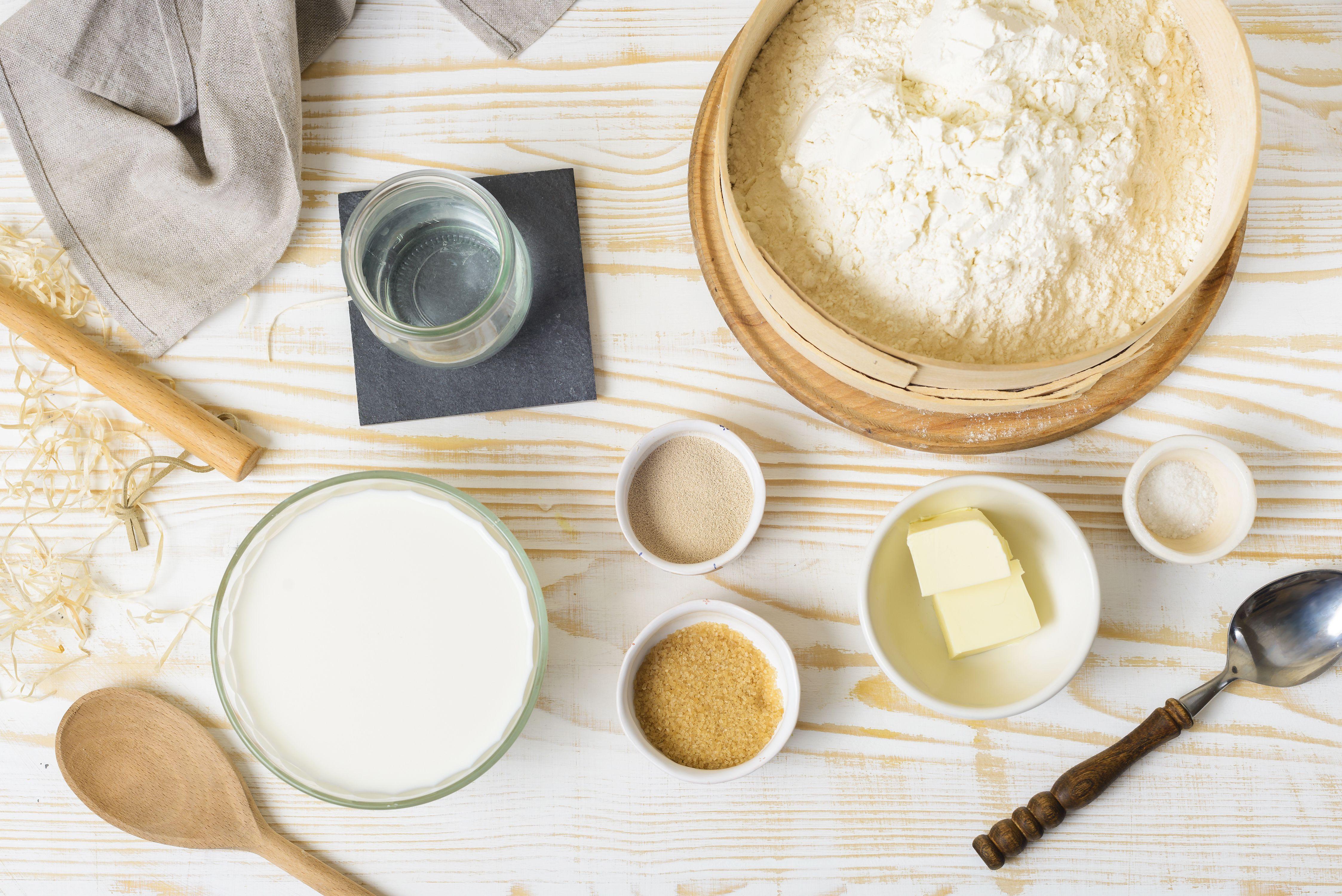 Ingredients for Amish milk bread