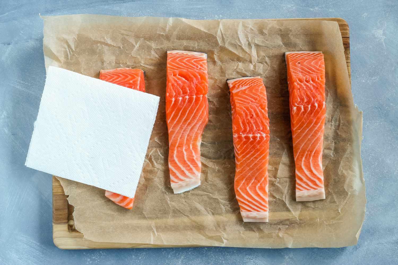 Pat down salmon