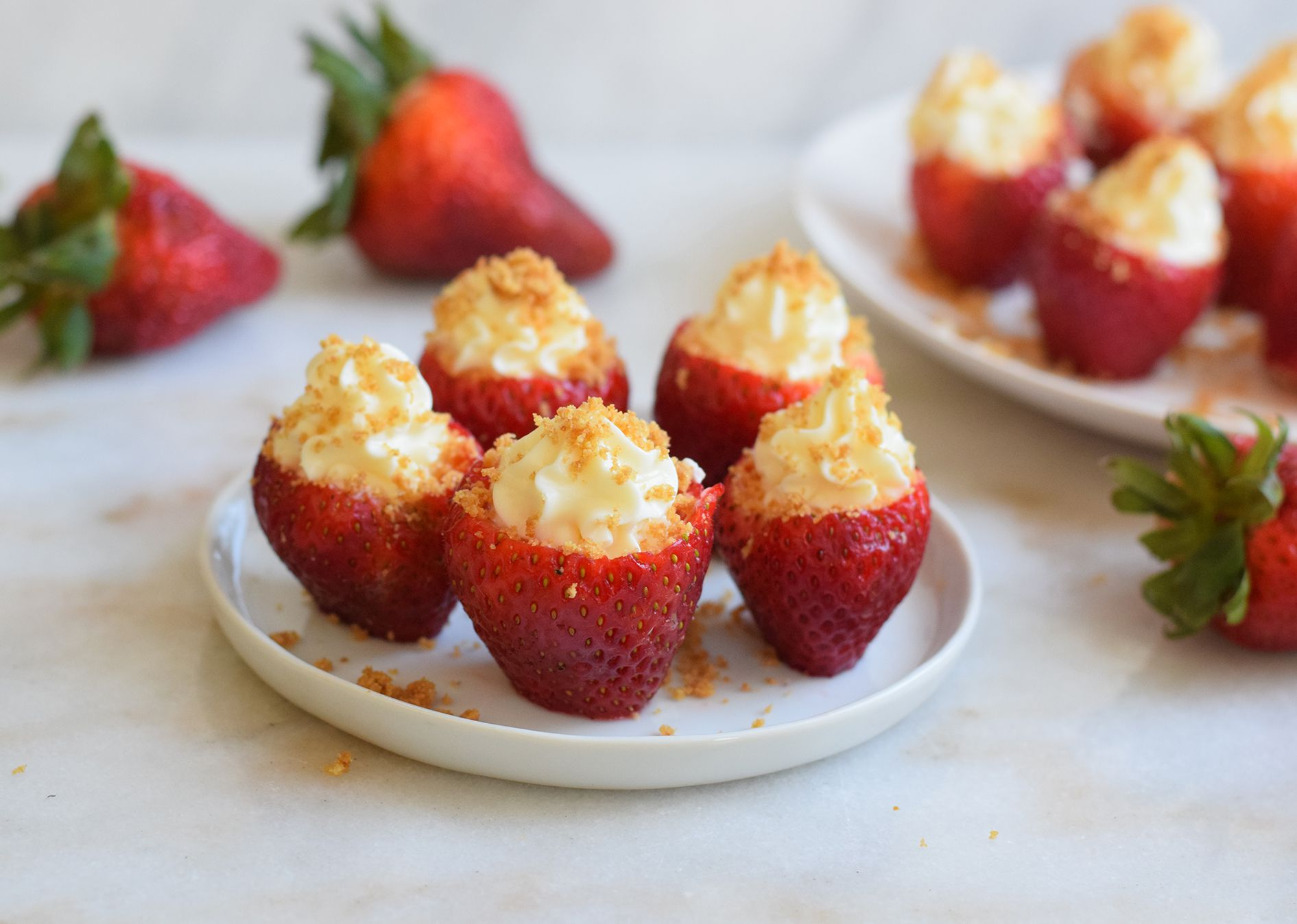 Cheesecake Stuffed Strawberries Are an Easy No-Bake Spring Dessert