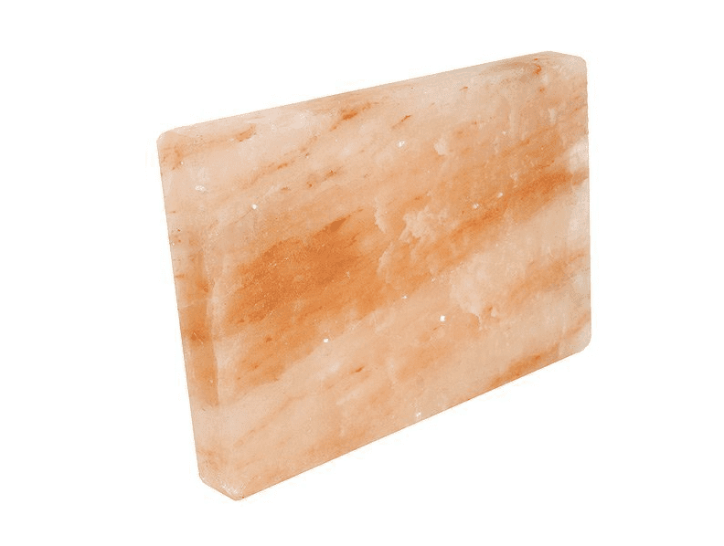 """Rocking Salt Himalayan Natural Crystal Salt Cooking Tile with Free Recipe Guide Included, 8"""" L x 6"""" H x 2"""" W"""