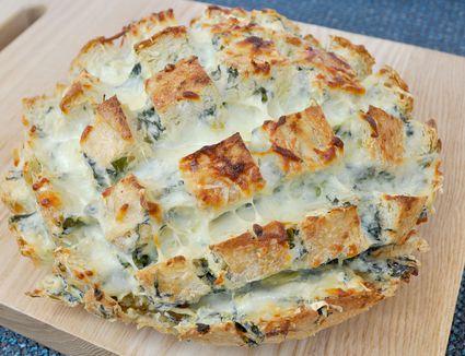 spinach and artichoke bread