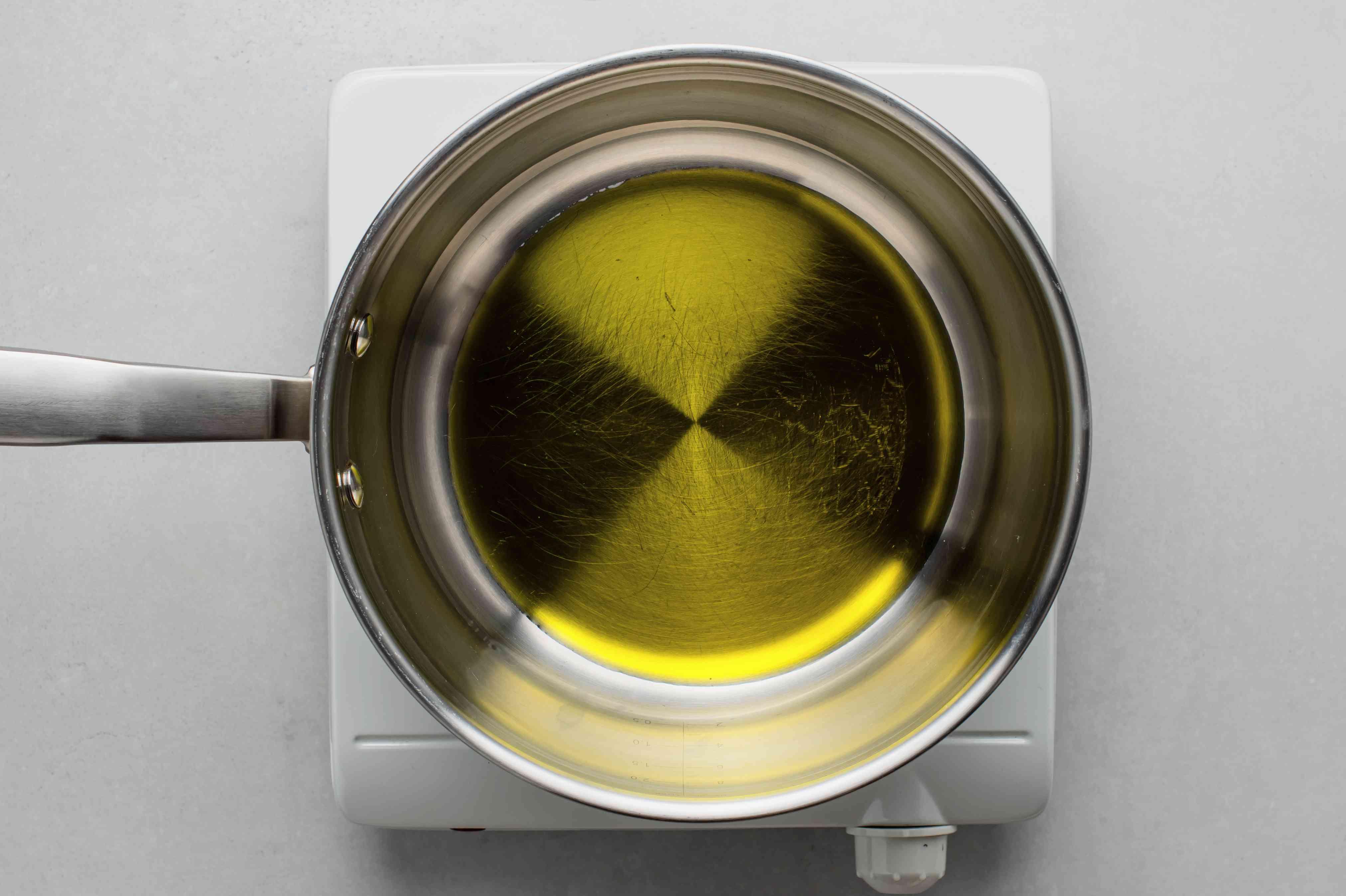oil in a saucepan