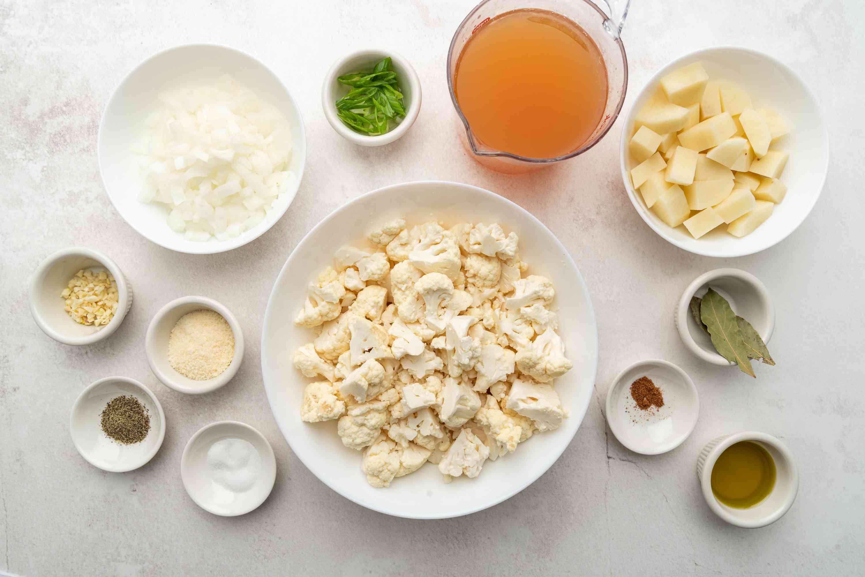 Vegan Cauliflower and Potato Soup ingredients
