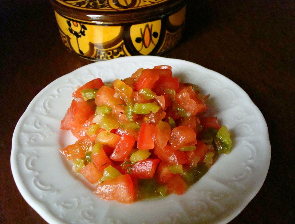 Ensalada marroquí de tomate y pimiento asado (Salade Mechouia)