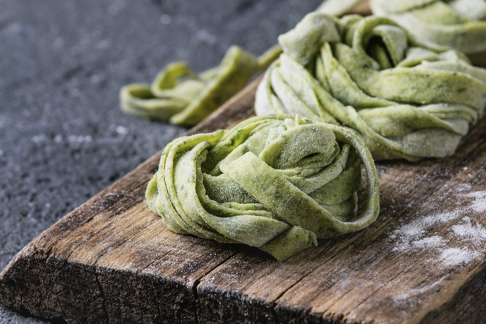 Spinach pasta dough