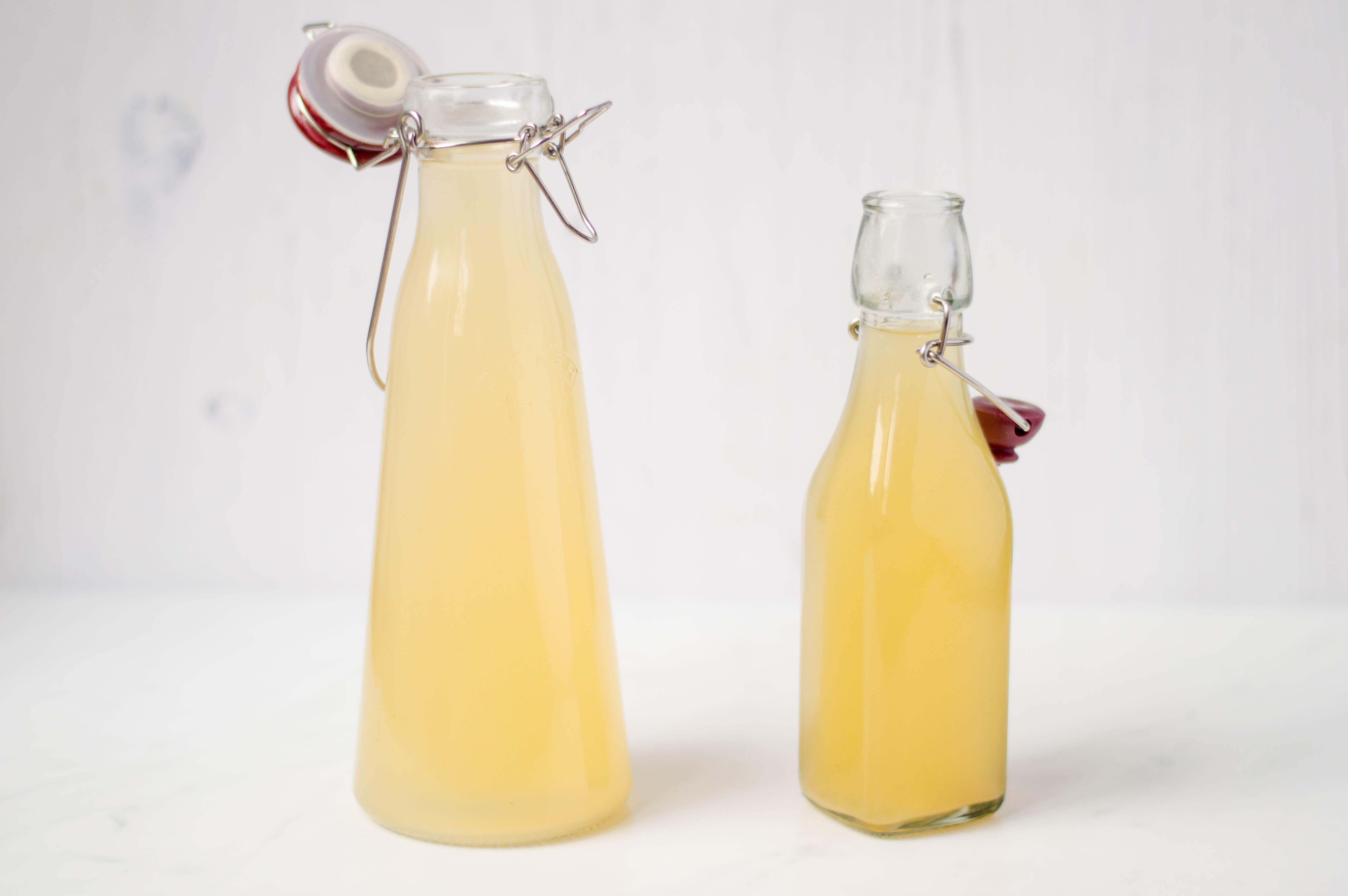 Barley water in bottles