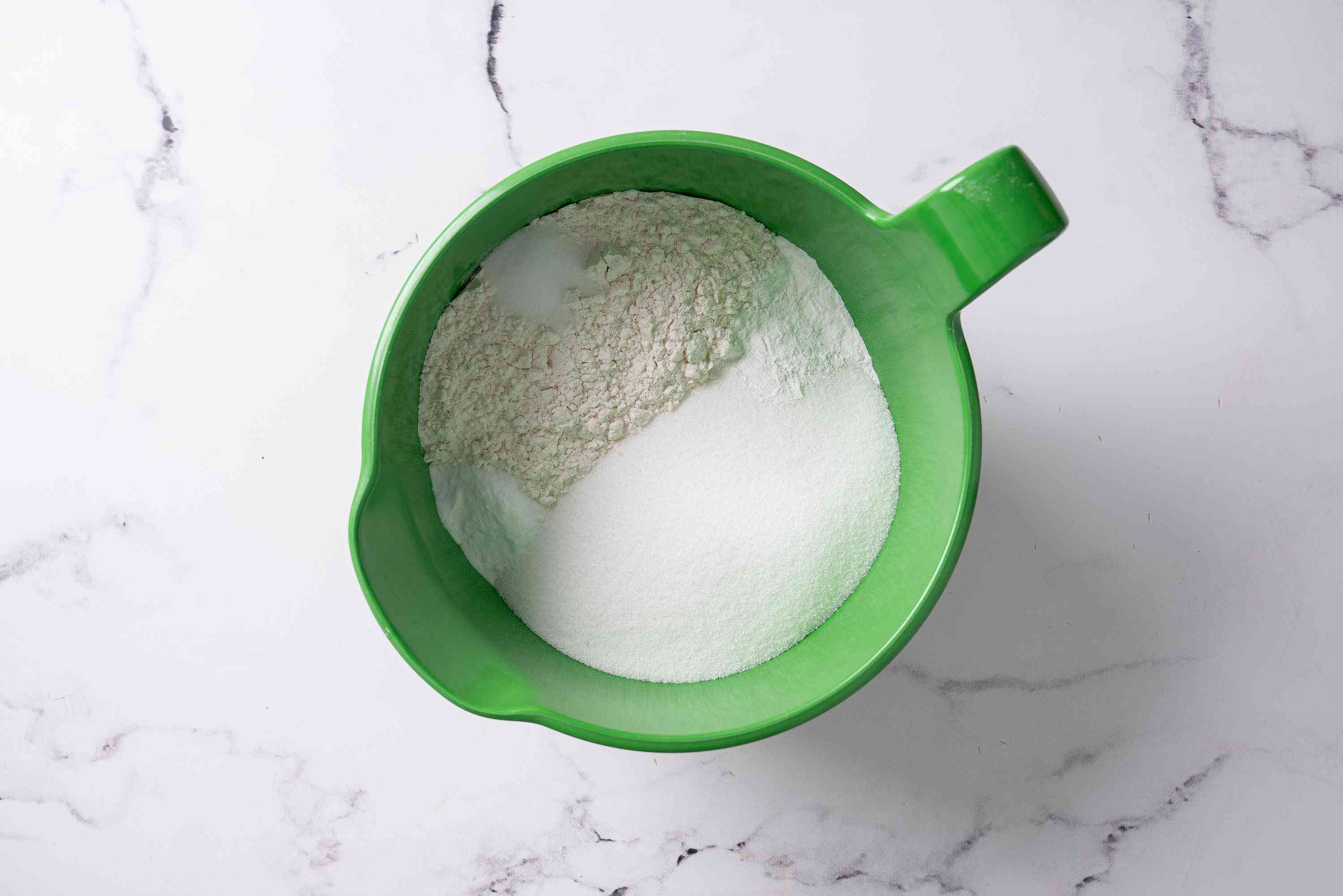 combine dry ingredients for Key Lime Cake
