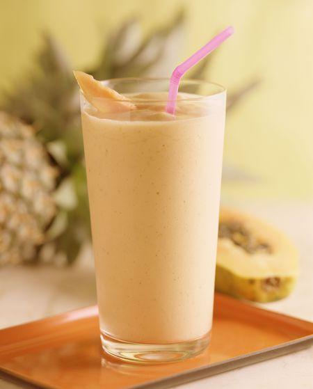 Papaya and Milk Smoothie (Refresco de Papaya)