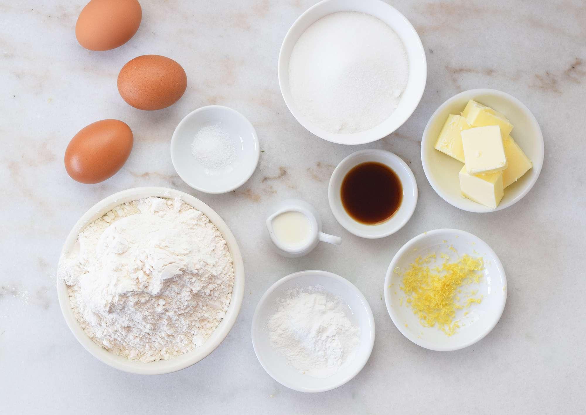 ingredients for italian easter cookies