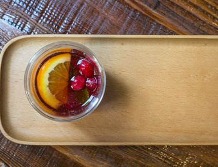 Brandy or Whiskey Cobbler With Seasonal Fruits