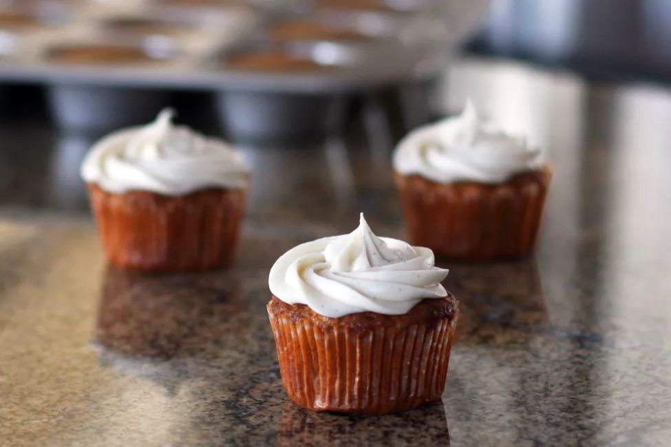 Gluten-Free Carrot Cupcakes With Cream Cheese Frosting
