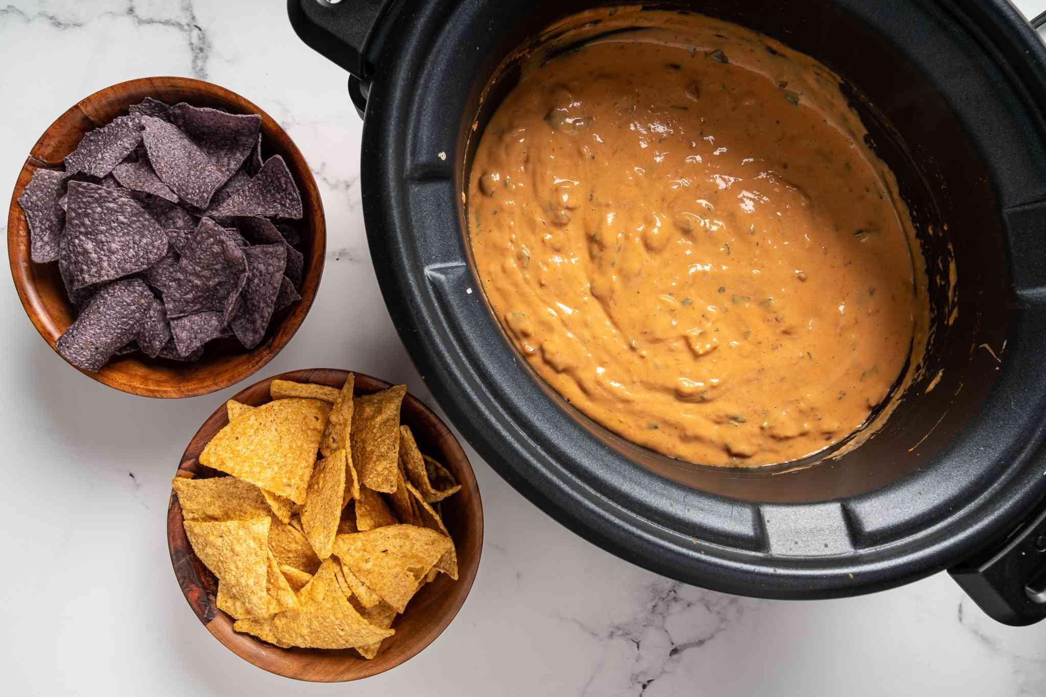 3-Ingredient Slow Cooker Velveeta Cheese Salsa Dip