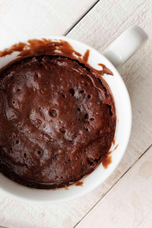 Microwaved Nutella mug cake