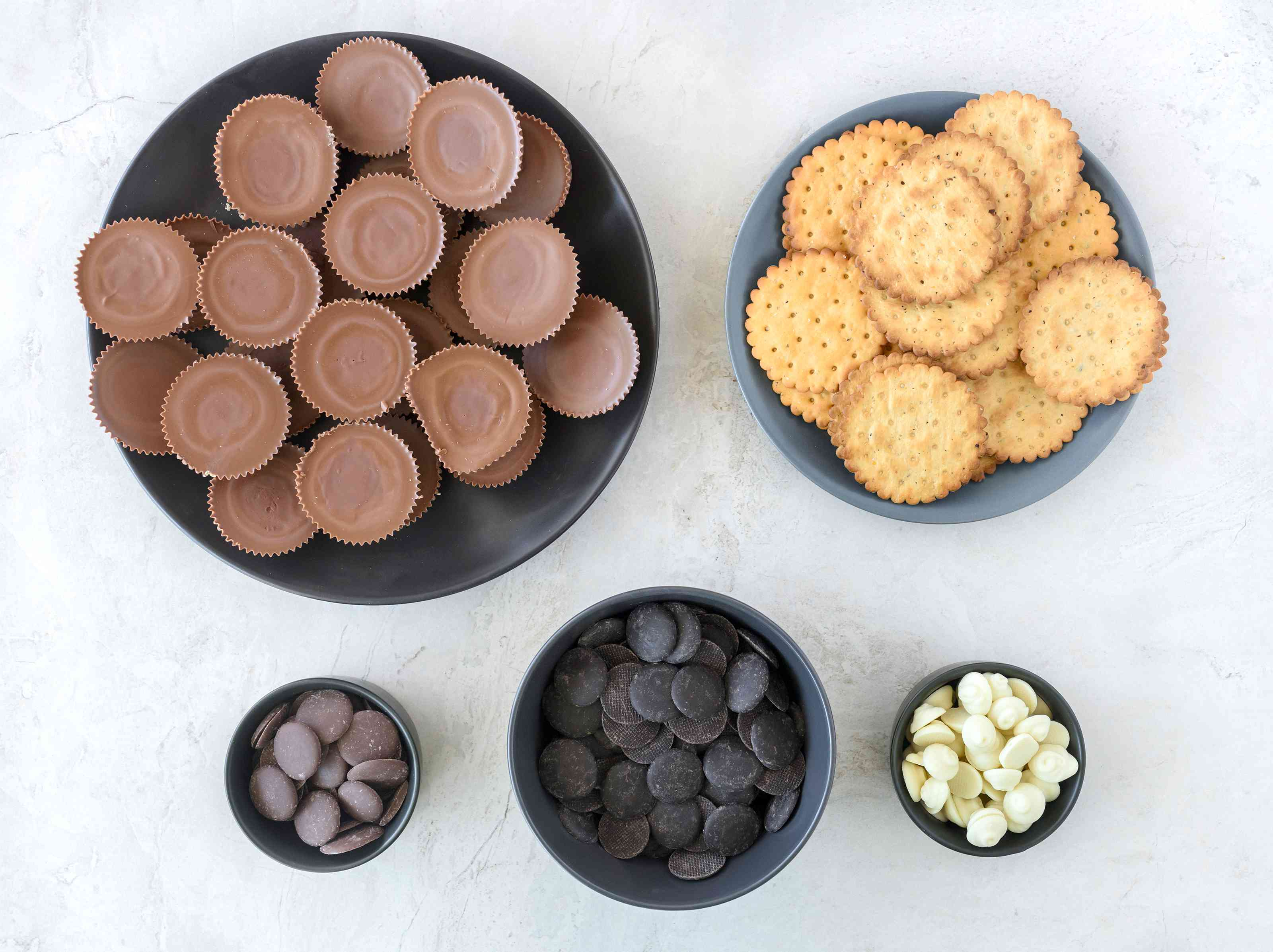 Ingredients for Pilgrim hats Thanksgiving candy recipe