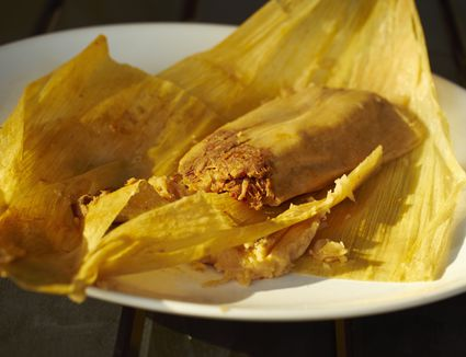Beef and red chile tamale