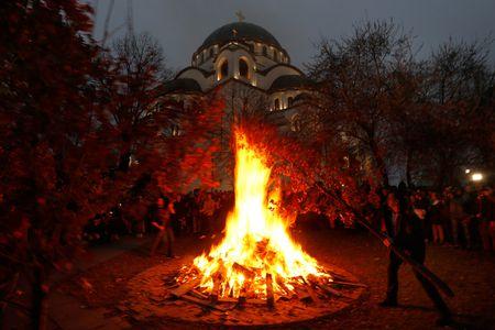 serbian yule log - When Is Serbian Christmas