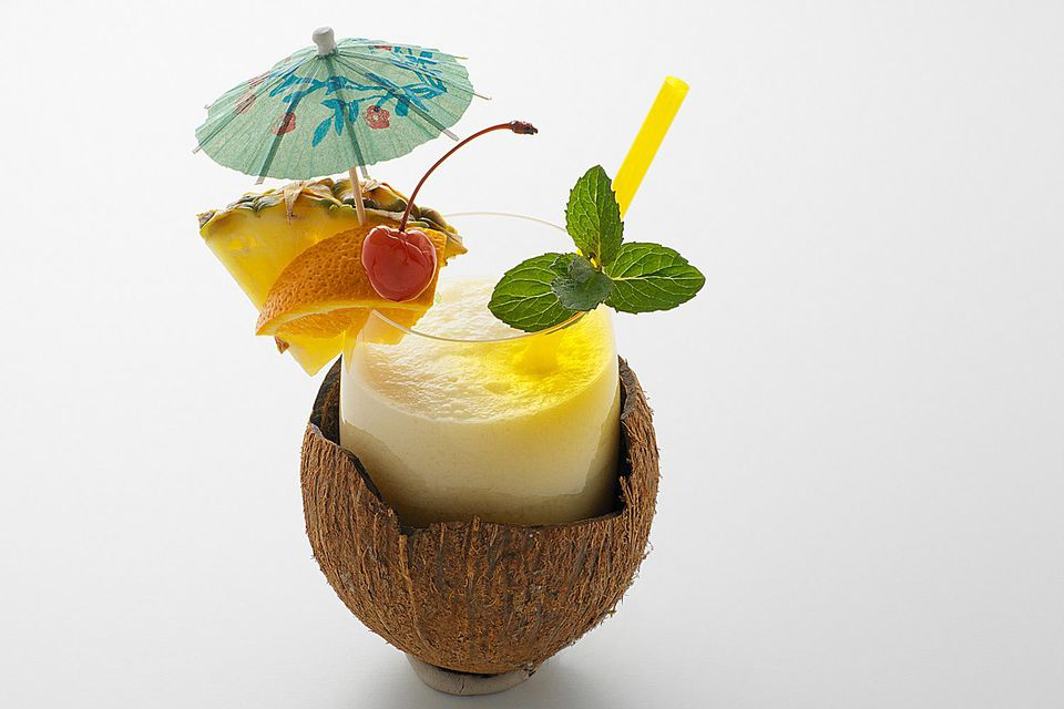 The Coco Colada is a non-alcoholic version of the Pina Colada