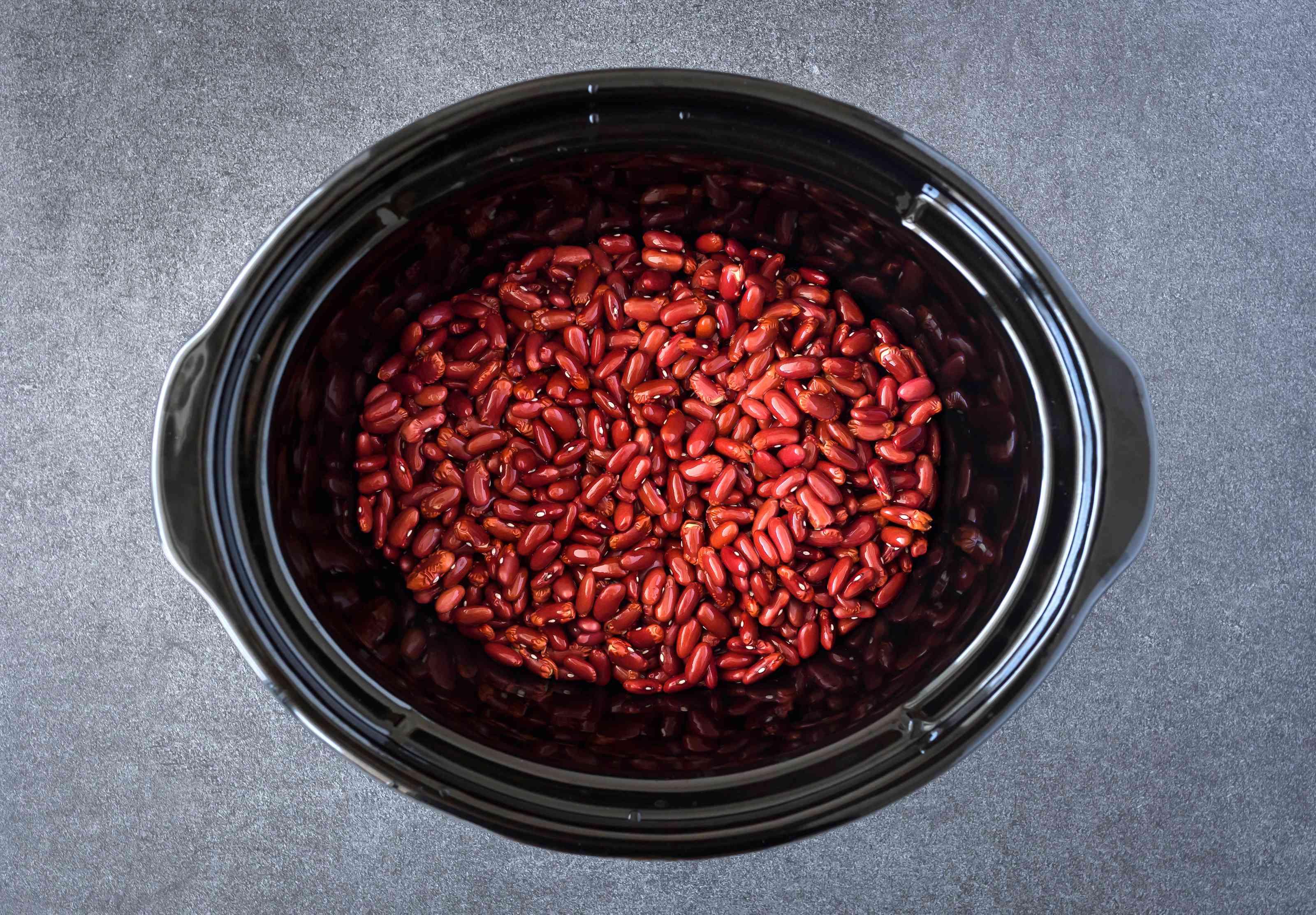 Put beans in crockpot