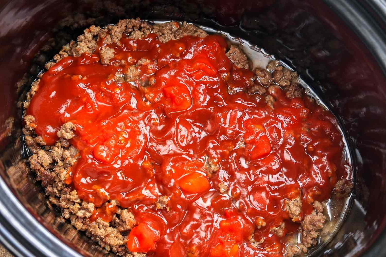 Crock Pot No-Bean Beef Chili Recipe