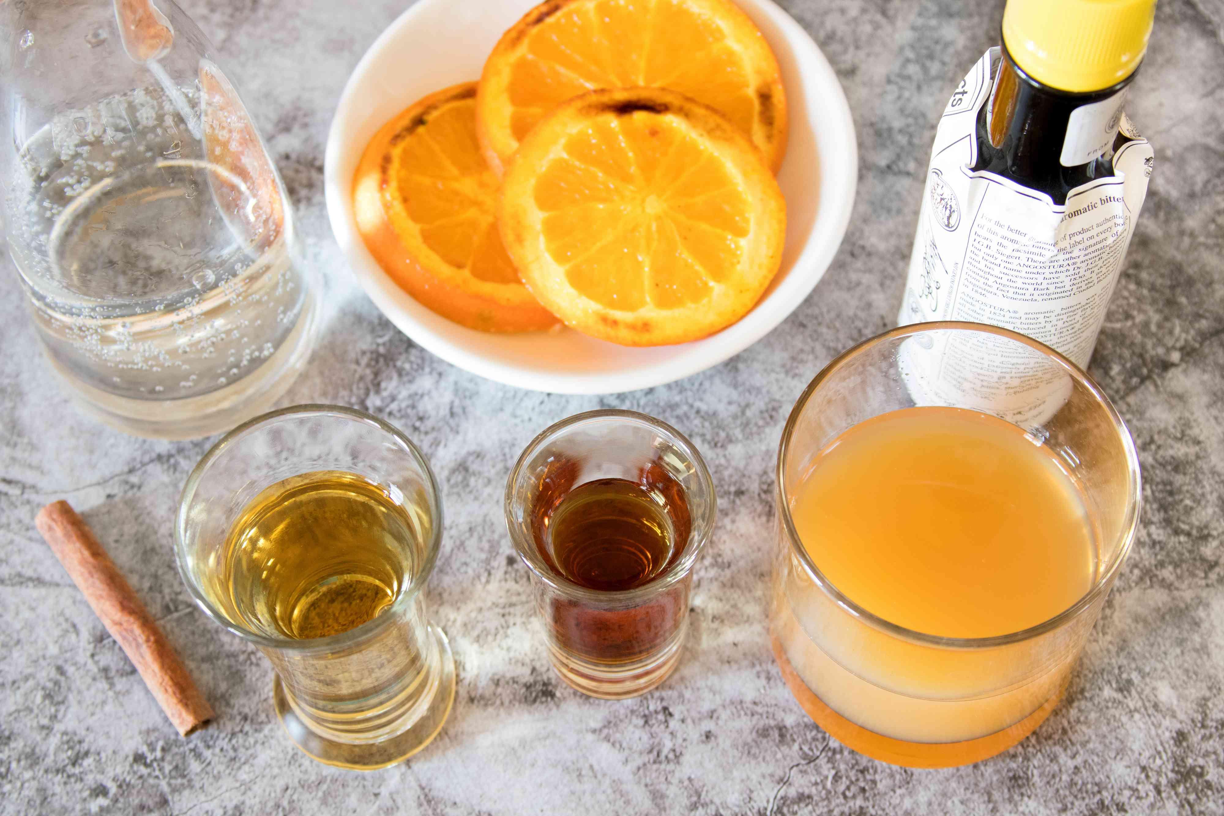 Spiked Apple Cider With Caramelized Oranges