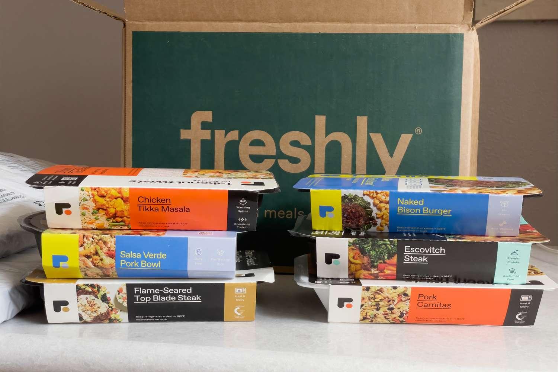 Freshly meals in packaging