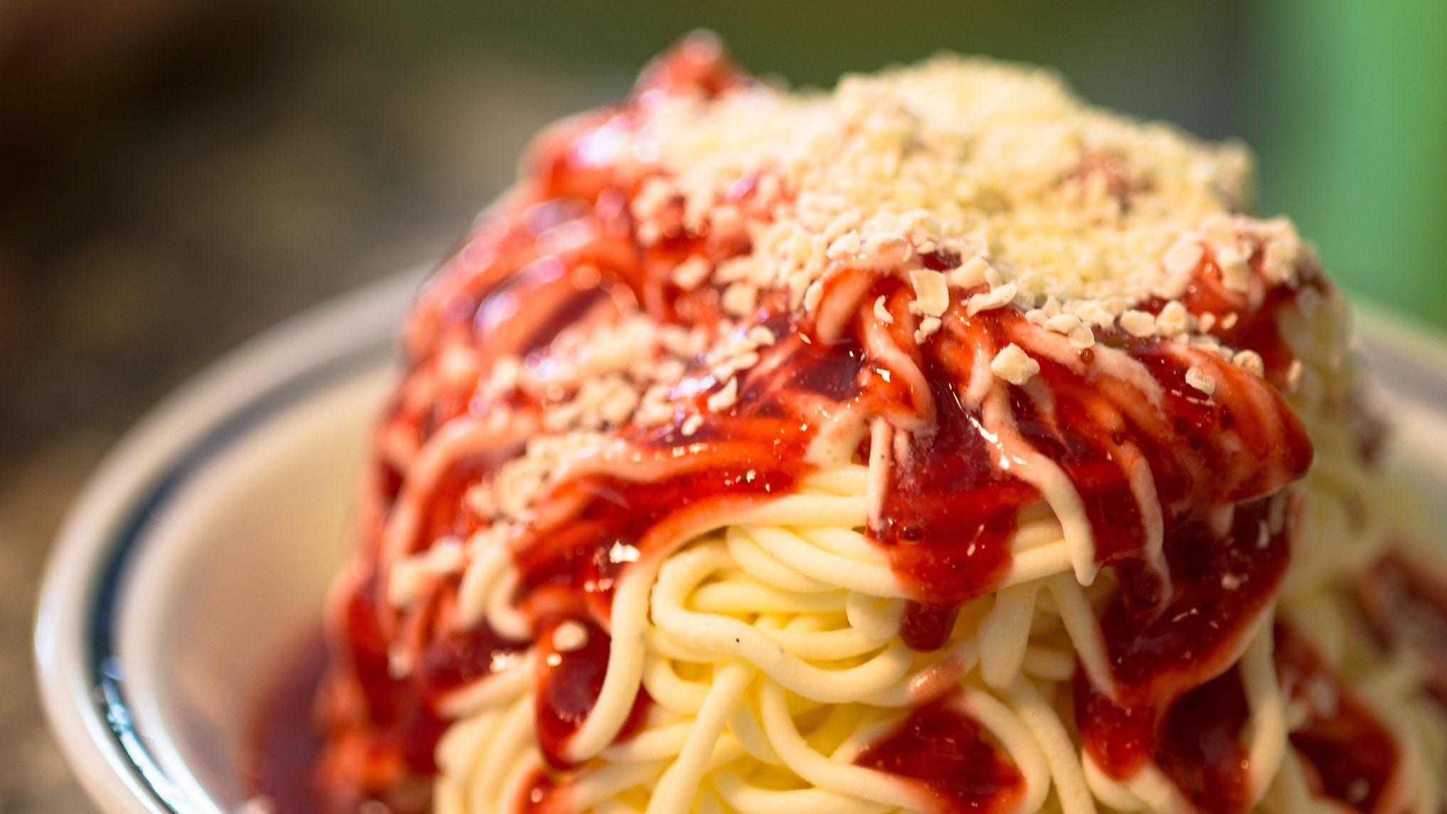 Spaghettieis: a Novelty Ice Cream Sundae From Germany